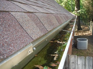Nonfunctional gutter system